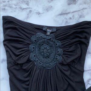 Sky strapless maxi dress